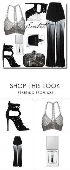 """Party Look #3"" by mutiahrana ❤ liked on Polyvore featuring Giuseppe Zanotti, Fannie Schiavoni, Versace, Givenchy, Bottega Veneta, Narciso Rodriguez, blackandwhite, partystyle and glampartylook"