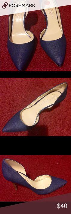 Gorgeous denim Jessica Simpson shoes Jessica Simpson denim high heels. Never worn. Jessica Simpson Shoes Heels