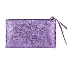 Ladies Fashion Purple Faux Leather Stone Pattern Handbag Clutch Bag Purse Wallet #Unbranded #Clutch