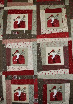 "Wonky Santa quilt pattern by Lynette Anderson Designs. 60"" X 72"""