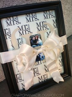 Cricut  and tissue paper... so cute for wedding gift! I can think of a little lady to make this for this summer