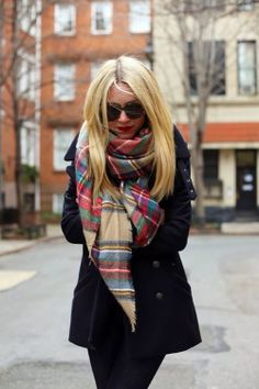winter outfits...love this scarf!