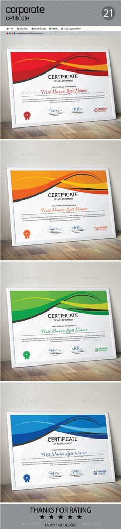 Multipurpose Certificates Certificate templates, Font logo and - corporate certificate template