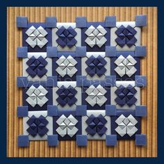 image Origami Wall Art, Origami Quilt, Origami And Kirigami, Paper Crafts Origami, Geometric Origami, Modular Origami, Tessellation Patterns, Paper Architecture, Paper Wall Art