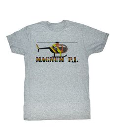 Love this Heather Gray 'Magnum P.I.' Chopper Tee - Toddler & Boys on #zulily! #zulilyfinds