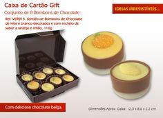 Está a um clique de enviar um Doce presente Original! Venha conhecer os nossos deliciosos chocolates Belgas!