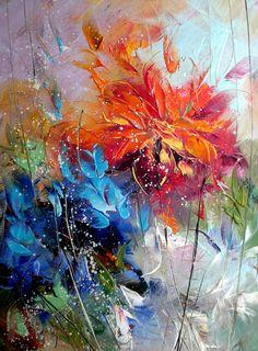 Floral Oil painting by Lyubomir Kolarov