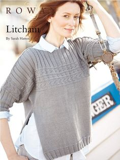 c7d43bf92e45 Knit this open sided sweater in Handknit Cotton. Designed by Sarah Hatton  this FREE pattern features simple textured bands and a three needle cast  off ...