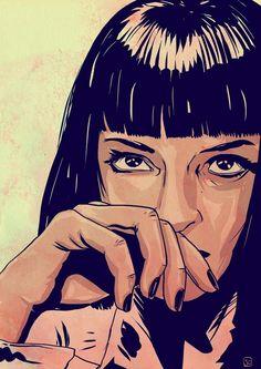 """Uma Thurman : Pulp Fiction """"I say goddamn!"""""""