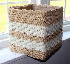 Lace Crochet Pattern  Easy Crochet Basket Pattern   Square