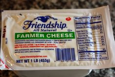 I love Friendship Farmer Cheese -just bought 2 lbs as I'm going on the Specific Carbohydrate Diet for 2 months to cleanse my intestines / heal my gut and replace bad bacteria with good (but I'm a vegetarian, so meat is out and farmer cheese in). Farmer cheese is awesome for lactose intolerant folks who like cheese. For me, it is also a comfort food, because my family used to have Saturday brunch with the grandparents eating bagels, lox, cream cheese, farmer cheese, lettuce, tomato, onion…