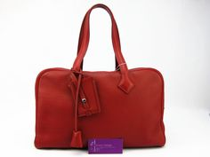 Hermes Victoria Red Color Togo Very Good Condition Rm14840 Ref.no UCRT-1