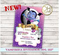 VAMPIRINA invitación cumpleaños partido vampirina, vampirina cumpleaños, invitación vampirina, vampirina disney, vampirina imprimible, vampirina ¡Personalizada su cumpleaños especial con esta única invitación de fiesta de cumpleaños! Este listado está para una invitación digital