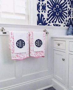 Applique Monogrammed Guest Towel