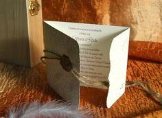 Invitatie de nunta Vintage Letter