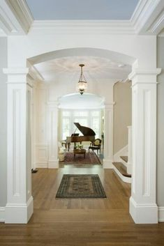 beautiful family rooms with baby grand pianos | Grand piano