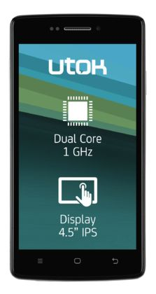 UTOK D45 Dual Sim, Quad, Sims, Phones, Smartphone, Quad Bike