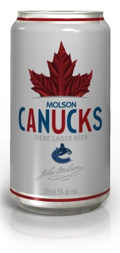 ~Go Canucks Go~ Canadian Beer, Canada Hockey, Finding New Friends, Beer Cans, Win Or Lose, Vancouver Canucks, Hockey Teams, Meeting New People, Fun Games