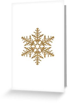 Gold Faux Glitter Snowflake card