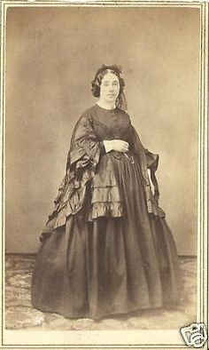 CDV PHOTO LOVELY VICTORIAN WOMAN BLACK FANCY MOURNING DRESS ANN ARBOR MICH CWE