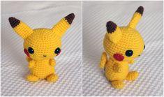 Peluche Pikachu Pikachu, Diy Shadow Box, Three's Company, Diy Phone Case, Pokemon Fan, Diy Photo, Acorn, Crochet Projects, Crochet Hats