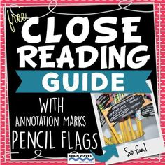 Free Close Reading  Close Reading AnnotationClose Reading-------------------------------------------------------------------------------------------------Looking for an interactive and engaging Close Reading Unit?  Then, check out this resource --- Close Reading Unit.