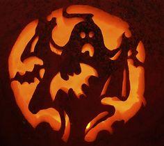Ghost Pumpkin Carving Pattern - Pumpkin Carving Ideas for Halloween