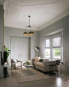 Learn how to easily create the perfect living room for your home with these key principles and ideas from an experienced interior designer. Interior Design Elements, Home Interior Design, Interior Decorating, Interior Doors, Room Interior, Ceiling Trim, Ceiling Design, Ceiling Detail, Home Living