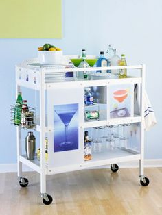 What a way to transform an old baby changing table!