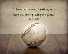 10x8 Baseball photo print Never let the fear of by SquidPhotos, $20.00