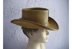 a597876160047 70s Vintage Leather Wild West Cowboy Hat