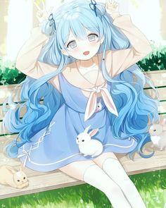 Amazing and Cute Anime and Manga Drawing Ideas Anime Chibi, Lolis Anime, Chica Anime Manga, Anime Guys, Manga Kawaii, Loli Kawaii, Kawaii Anime Girl, Anime Art Girl, Kawaii Hair