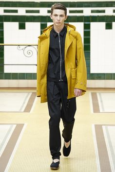 zipper shirt jacket | Lemaire Spring 2017 Menswear Fashion Show