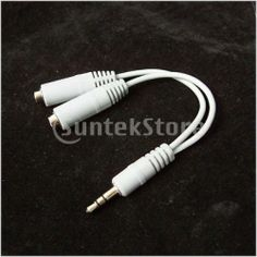 White 3.5mm Earphone Splitter Cable for Apple iPod iPhone iPad Samsung S4 S3 S2