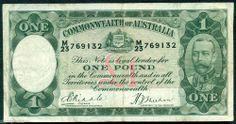 AUSTRALIA  OLD  £1  BANKNOTE  R28 RIDDLE SHEEHAN IN FINE CONDITION