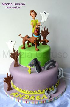 Scooby-Doo and Shaggy meet the Loch Ness Monster Cake made by Marzia Caruso Cake Design