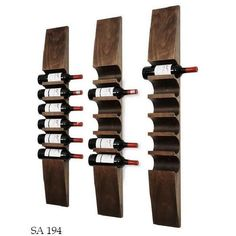 I like how these wooden wine racks look. Wood Wine Racks, Wine Rack Wall, Wine Wall, Wine Shelves, Wine Storage, Wood Projects, Woodworking Projects, Wine Display, Wine Cabinets