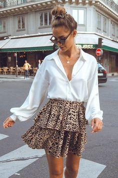 8 Length Fits 32-35 Teal Leopard Print Spandex Mini Skirt
