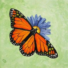 """""""Monarch Butterfly"""" - Original Fine Art for Sale - © by Crista Forest"""