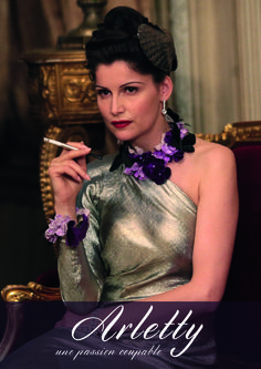 ARLETTY, A GUILTY PASSION (Arletty, une passion coupable) A 2015 drama directed by Arnaud Sélignac - Official french poster