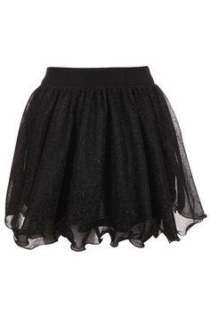 Romwe.com A-line Flouncing Black Skirt
