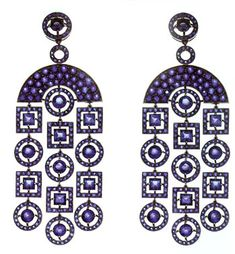 BOUCHERON art deco blue earrings.