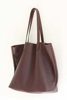 eaa750b35fc9 LILA Large Burgundy Leather Tote Bag by MISHKAbags Leather Totes