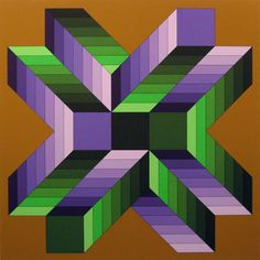 Victor-Vasarely-Mata-Fem-Signed-Artwork-Serigraph-Op-Art-SUBMIT-BEST-OFFER