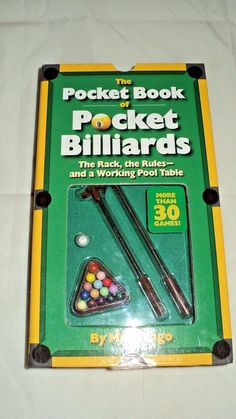 THE POCKET BOOK OF POCKET BILLIARDS MKE VAGO NEW NEVER OPENED