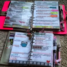 Filofax: Week 41 | Using an A5 and Personal Filofax Together