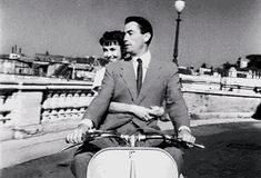 """Audrey Hepburn and Gregory Peck in """"Roman Holiday"""", 1953"""