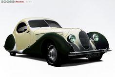 1938 Talbot-Lago T-23 Coupe by Figoni et Falaschi
