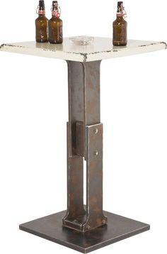 Tisch Stehtisch Beistelltisch Bar Vintage Weiß Neu KARE Design