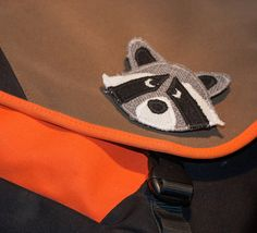 Pin, Bag Accessory, Personalize your coat or purse with this masked fellow. Made in Norway. Special Makeup, Racoon, Pencil Pouch, Norway, Bag Accessories, Messenger Bag, Buy And Sell, Brooch, Purses